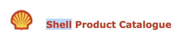 Shell product catalog image
